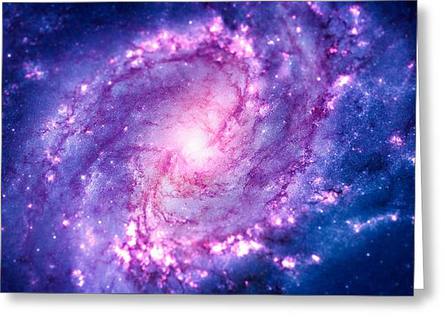 Cosmic Vacuum Cleaner Spiral Galaxy M83 Greeting Card
