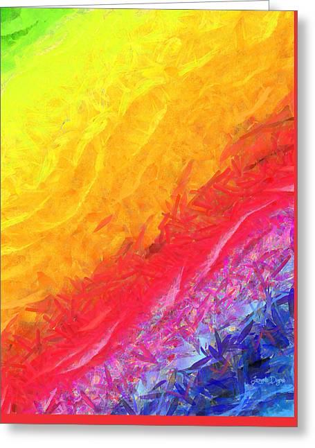 Cosmic Waves - Pa Greeting Card by Leonardo Digenio