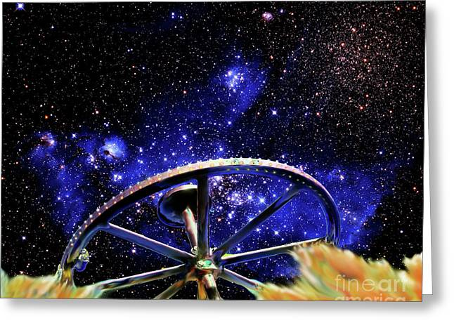 Greeting Card featuring the photograph Cosmic Wheel by Jim and Emily Bush