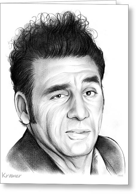 Cosmo Kramer Greeting Card by Greg Joens