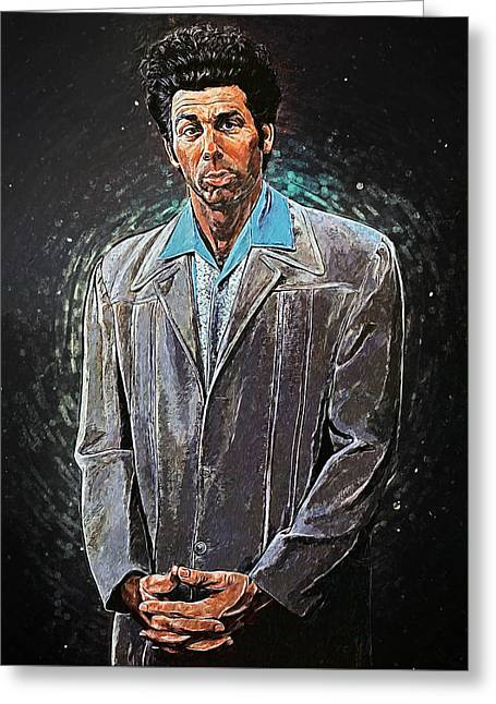 Cosmo Kramer Greeting Card