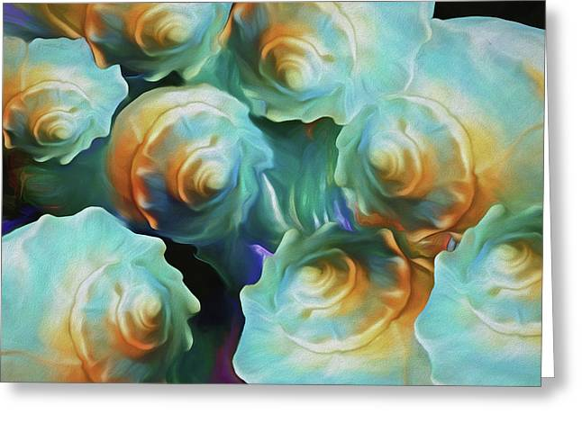 Greeting Card featuring the mixed media Cosmo-progeny 8 by Lynda Lehmann