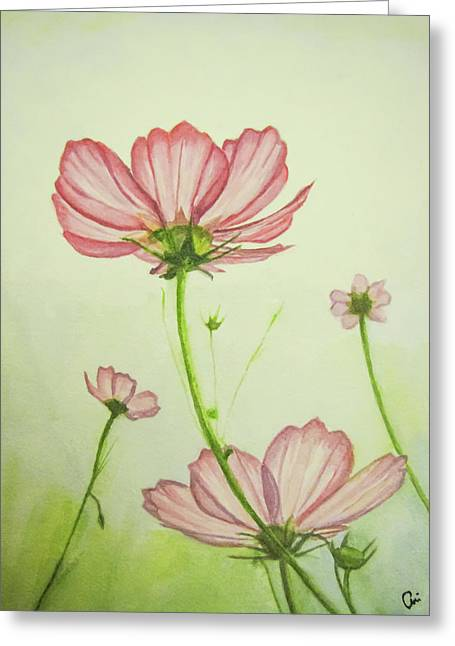 Cosmos Way Greeting Card by Annie Poitras