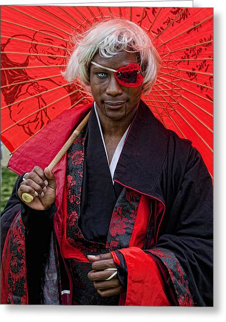 Cosplay On Japan Day Nyc 1 Greeting Card by Robert Ullmann