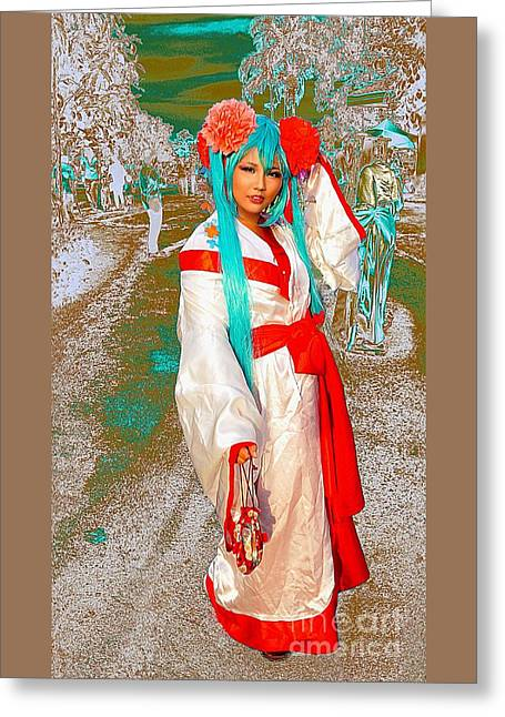 Cosplayer Of The Orient Greeting Card
