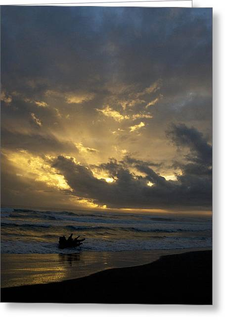 Costa Photographs Greeting Cards - Costa Rican Sunrise Greeting Card by JP Lawrence