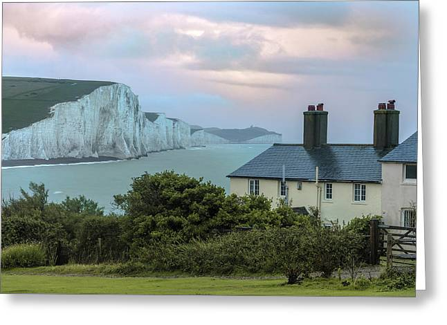 Costguard Cottages Seven Sisters - England Greeting Card