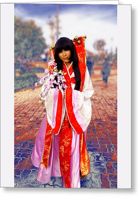 Costume Of Japan Greeting Card