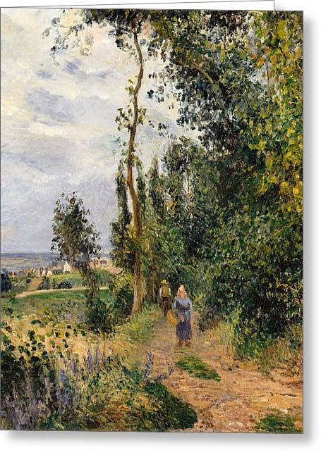 Cote Des Grouettes Near Pontoise Greeting Card by Camille Pissarro