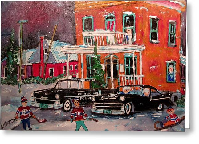 Cote St. Luc Police At 8100 1958 Greeting Card