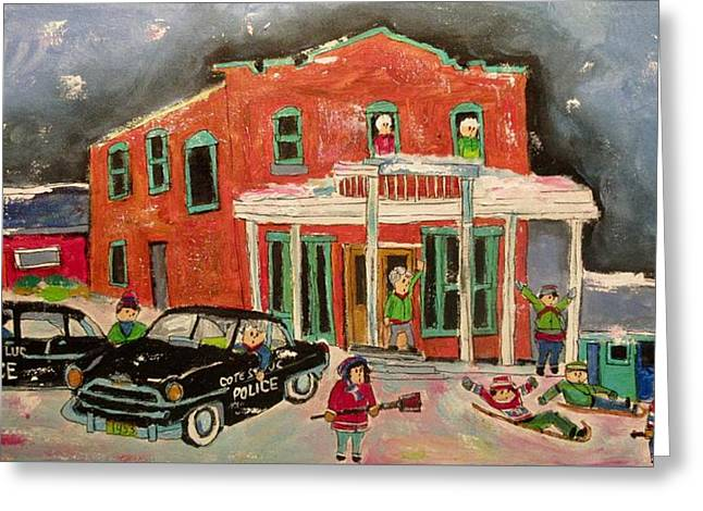 Vintage Cote St. Luc Police Traffic Control 1955 Greeting Card