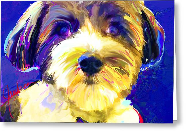 Coton De Tulear 1 Greeting Card by Jackie Jacobson