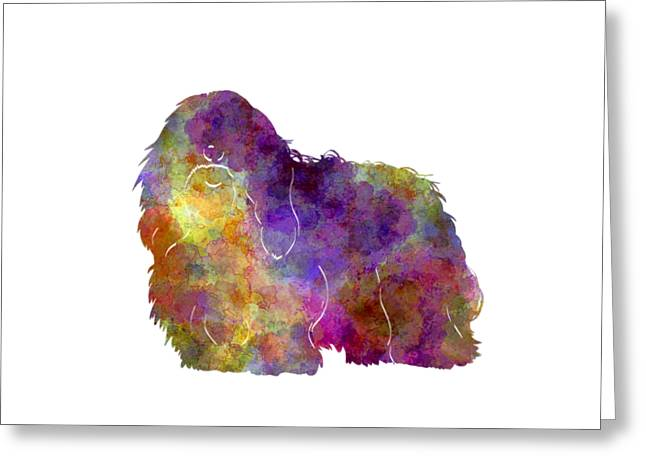 Coton De Tulear In Watercolor Greeting Card