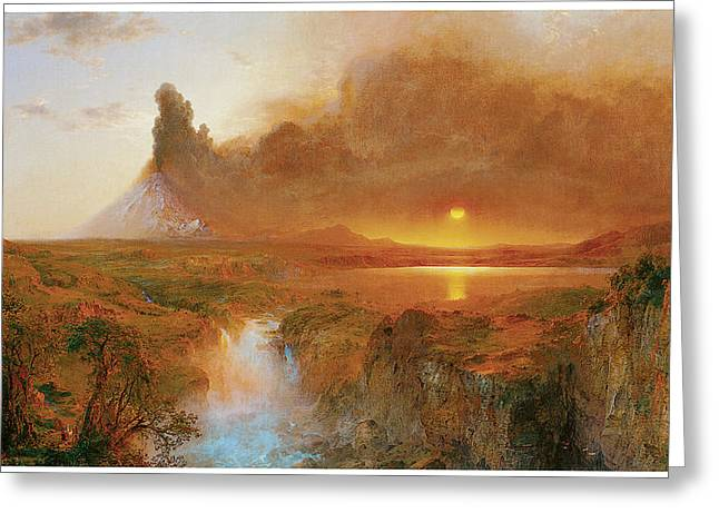 Church Painter Greeting Cards - Cotopaxi Greeting Card by Frederick Edwin Church