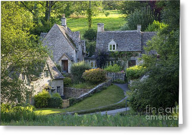 Cotswold Cottages Greeting Card by Brian Jannsen