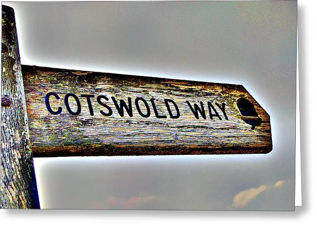 Cotswold Way Greeting Card by Roberto Alamino