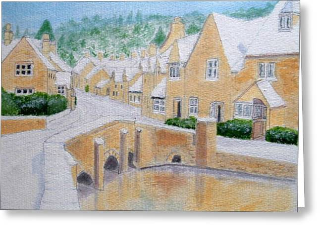 Cotswold Winter - Castle Combe Greeting Card