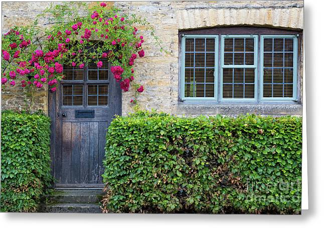 Greeting Card featuring the photograph Cotswolds Cottage Home by Brian Jannsen