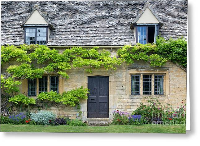Greeting Card featuring the photograph Cotswolds Cottage Home II by Brian Jannsen