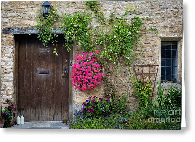 Cotswolds Milk Delivery Greeting Card by Brian Jannsen