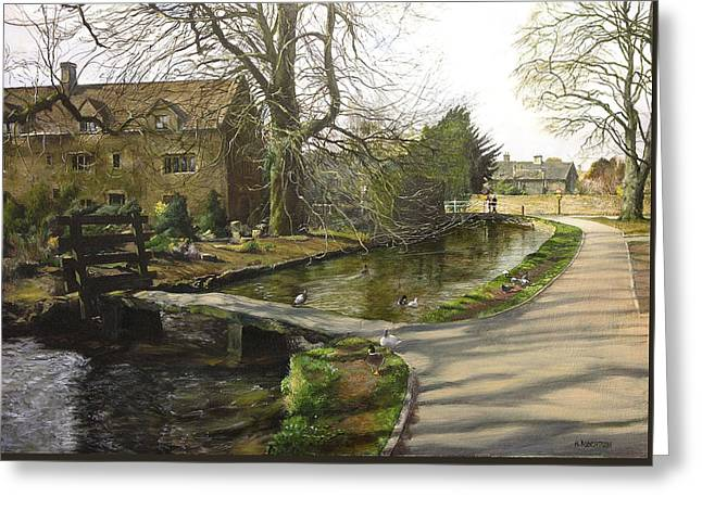Cotswolds Scene. Greeting Card by Harry Robertson