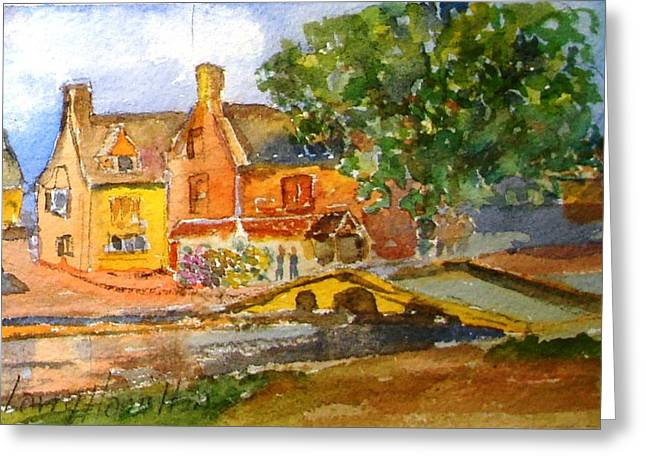 Cotswolds Town Study Greeting Card by Larry Hamilton