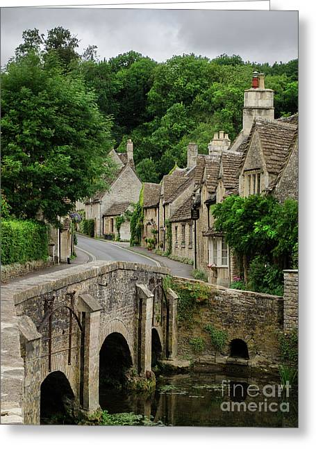 Cotswolds Village Castle Combe Greeting Card by IPics Photography