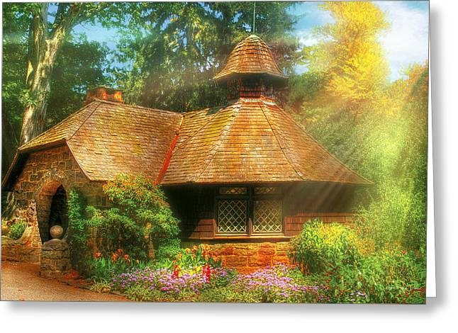 Cottage - A Little Dutch House Greeting Card