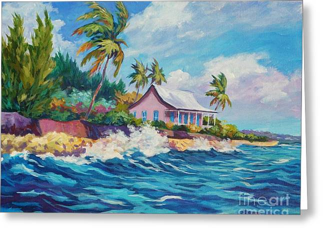 Cottage At Prospect Reef Greeting Card by John Clark