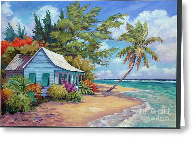 Cottage At The Water's Edge Greeting Card