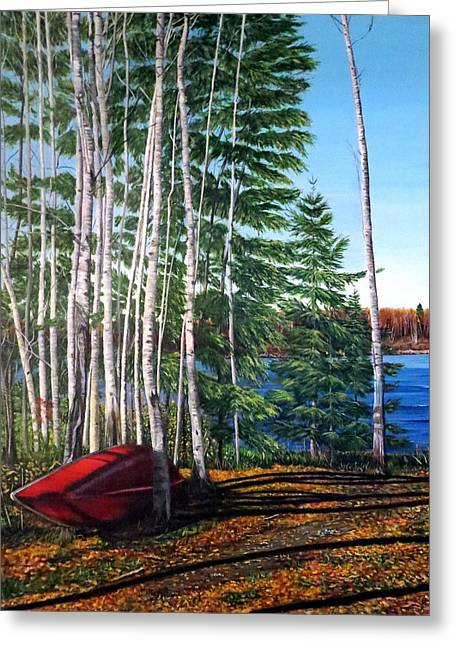 Cottage Country Greeting Card by Marilyn McNish