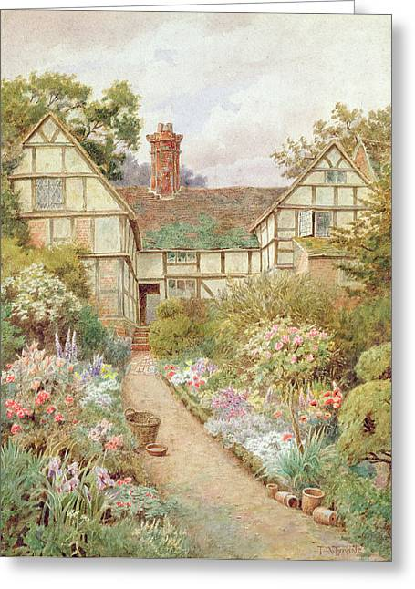 Cottage Garden Greeting Card by Thomas Nicholson Tyndale
