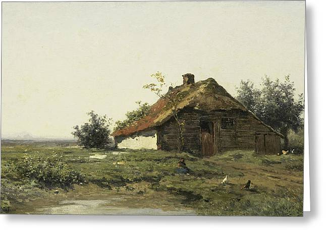 Cottage In An Open Field Greeting Card by Paul Gabriel