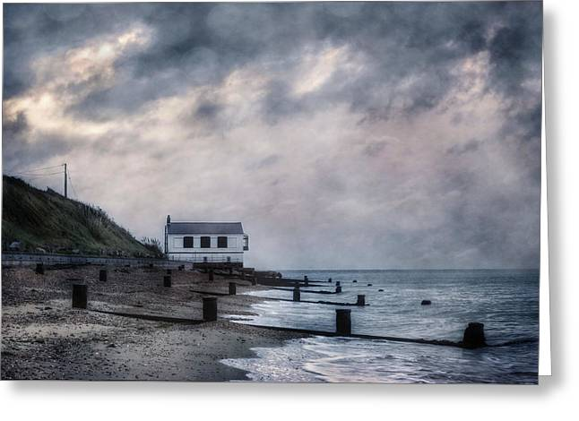 Cottage In Storm Greeting Card