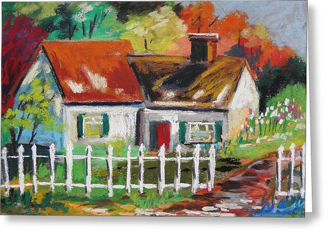 Cottage In The Sun Greeting Card by John Williams