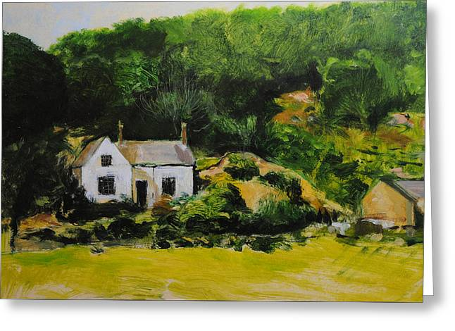 Cottage In Wales Greeting Card by Harry Robertson
