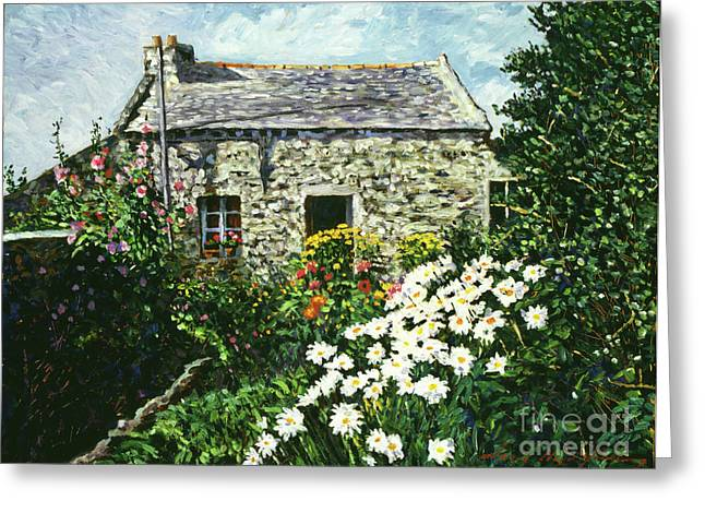 English Cottages Greeting Cards - Cottage of Stone Greeting Card by David Lloyd Glover