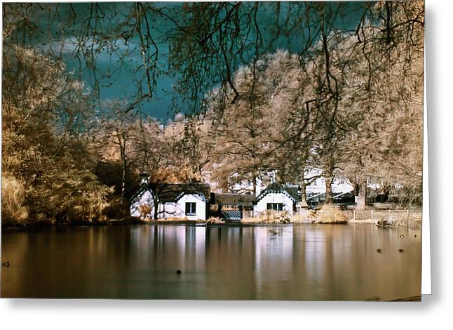 Cottage On The Lake Greeting Card