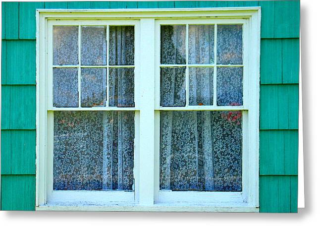 Cottage Windows Greeting Card by Mg Blackstock