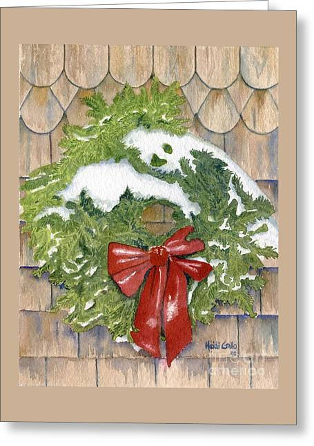 Cottage Wreath Greeting Card