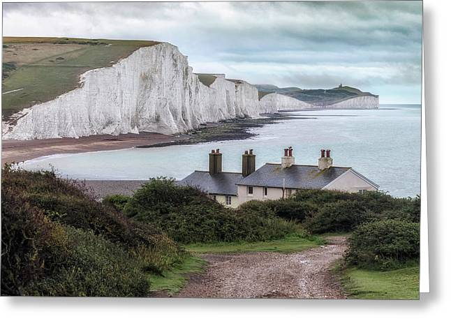 Cottages At Seven Sisters - England Greeting Card