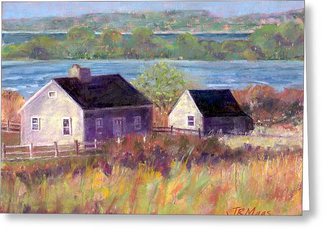Cottages By The Bay Greeting Card