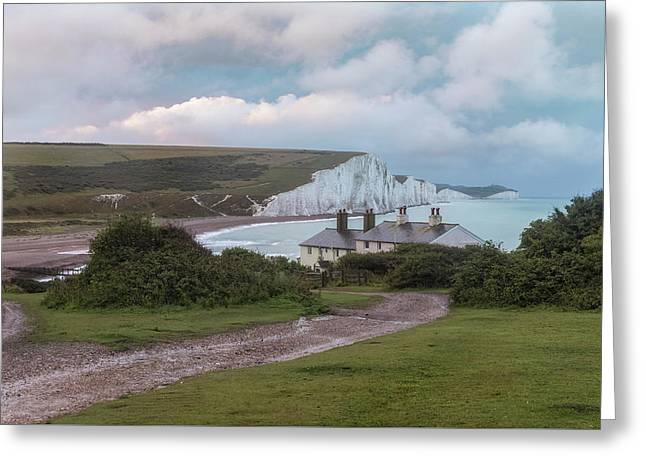 cottages Seven Sisters - England Greeting Card