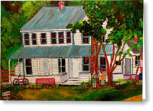 Cottenberg's Hotel New Glasgow Greeting Card by Michael Litvack