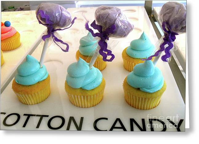 Greeting Card featuring the photograph Cotton Candy Cupcakes by Beth Saffer