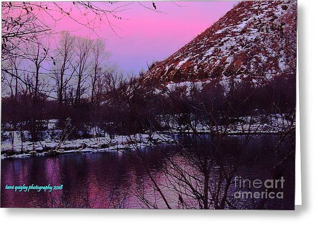 Cotton Candy On The Kittatinny Greeting Card