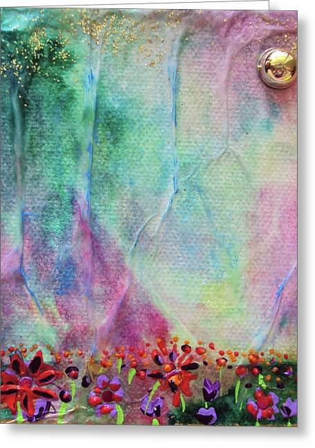 Cotton Candy  Greeting Card by Shawna Scarpitti