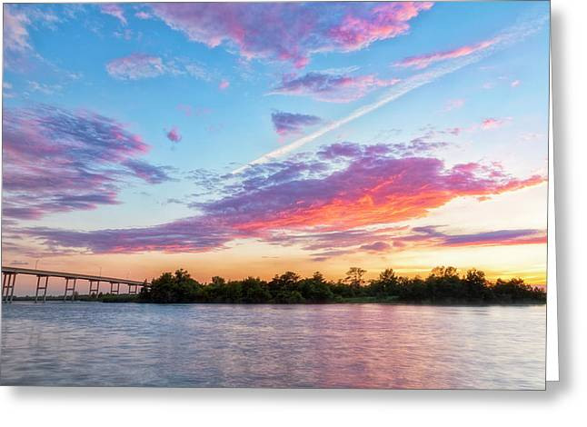 Cotton Candy Sunset Greeting Card