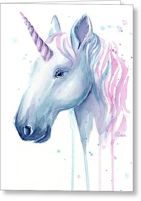 Cotton Candy Unicorn Greeting Card