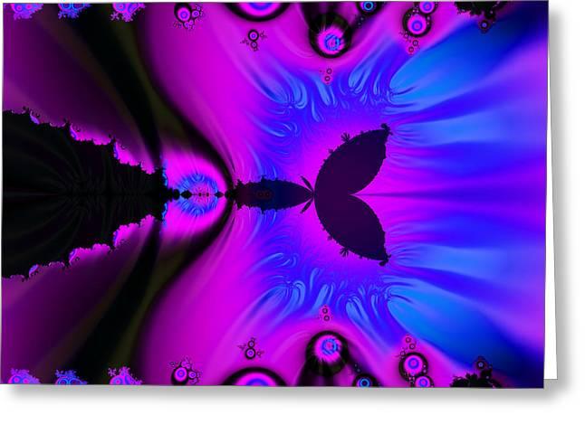 Cotton Candyland Fractal Greeting Card